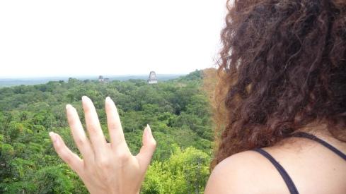 Milena at Tikal